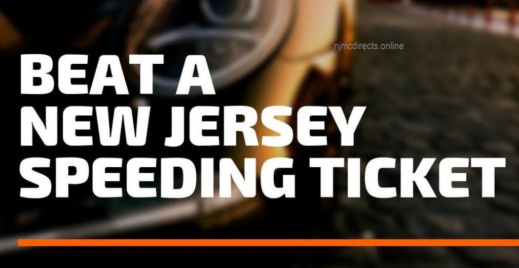 beat a new jersey speeding ticket